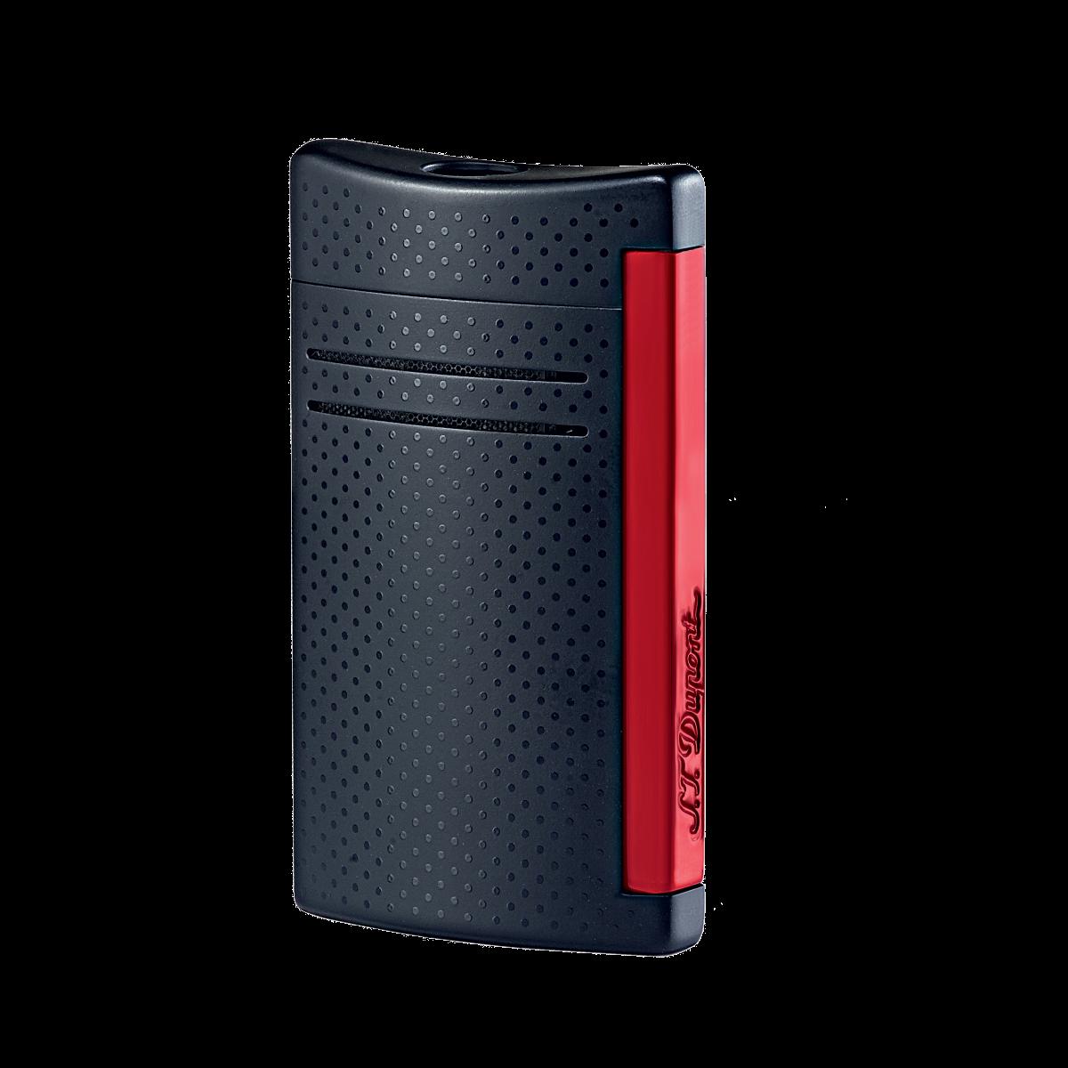 Design mais leve em preto e vermelho mate