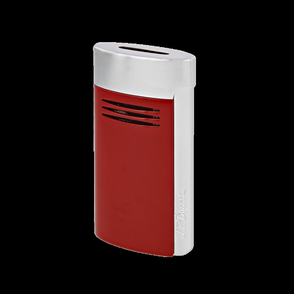 Isqueiro de design prateado e vermelho