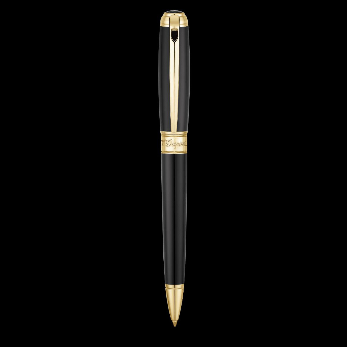 Caneta de design em ouro preto e amarelo