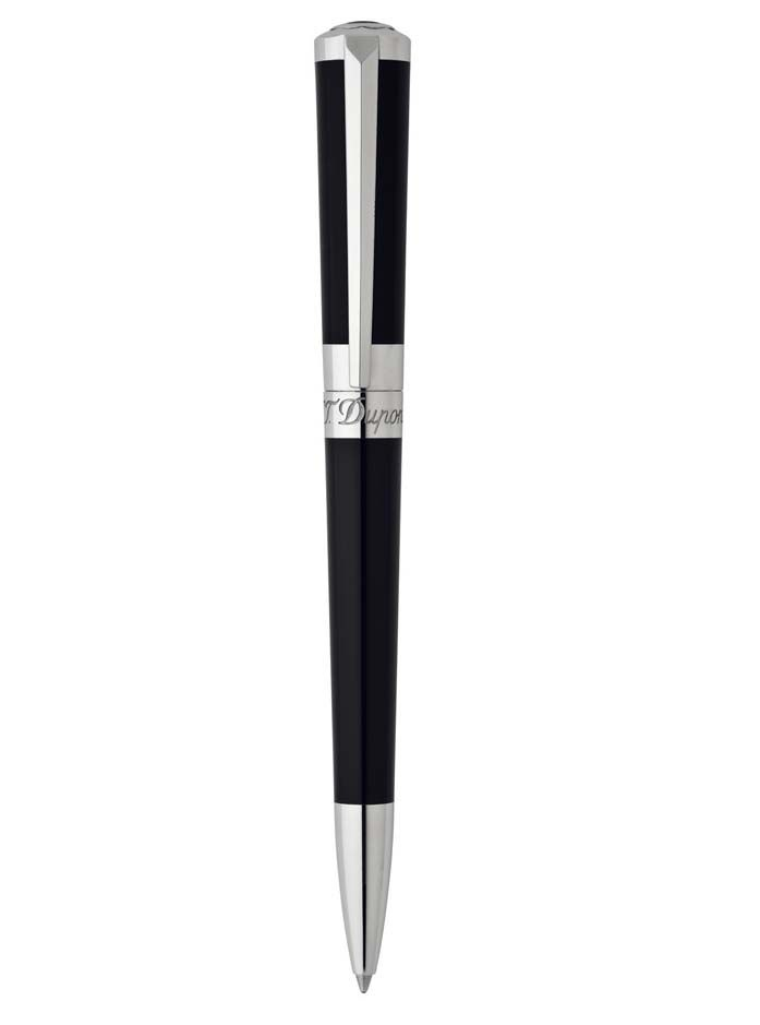 Bolígrafo de diseño en color negro y plata