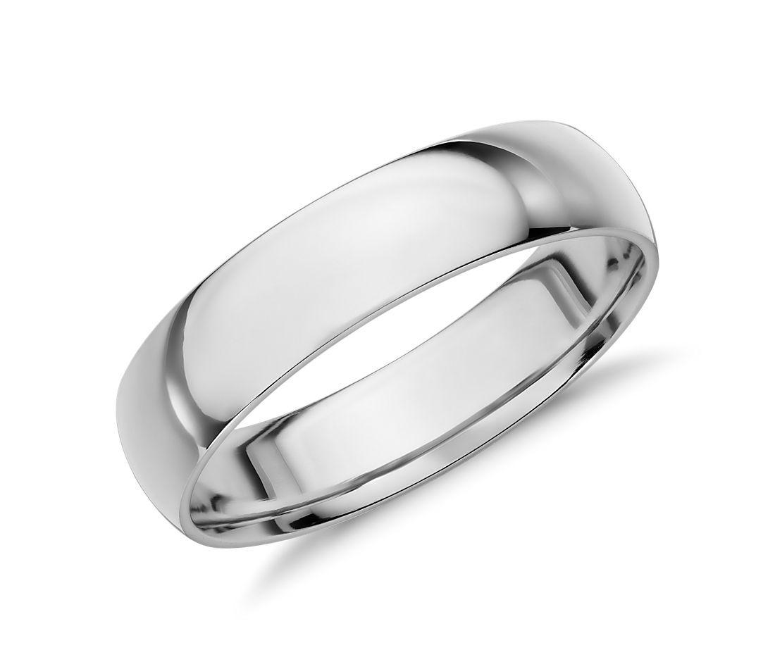 Aliança de casamento almendrada em ouro branco