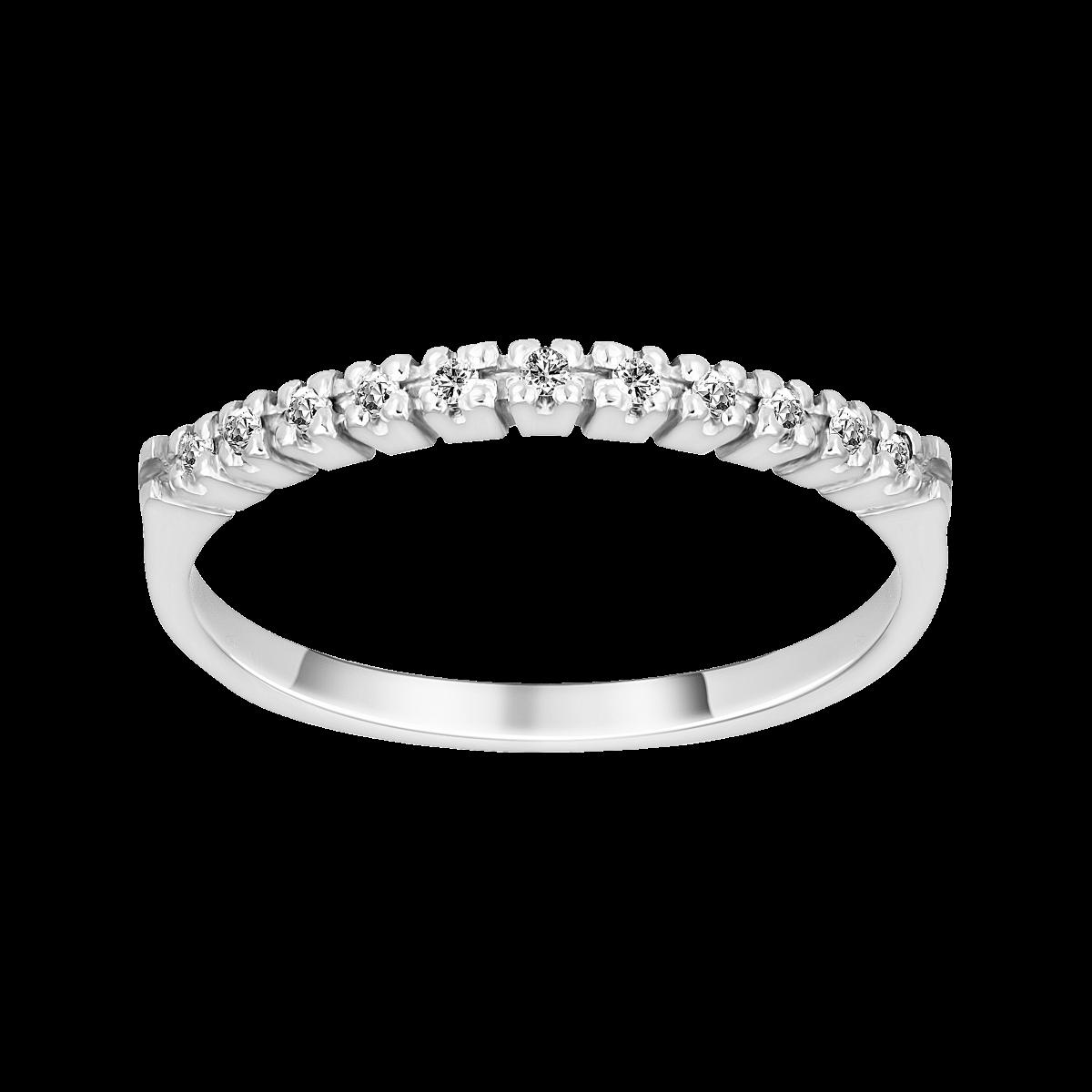 Anillo de diamantes oro blanco