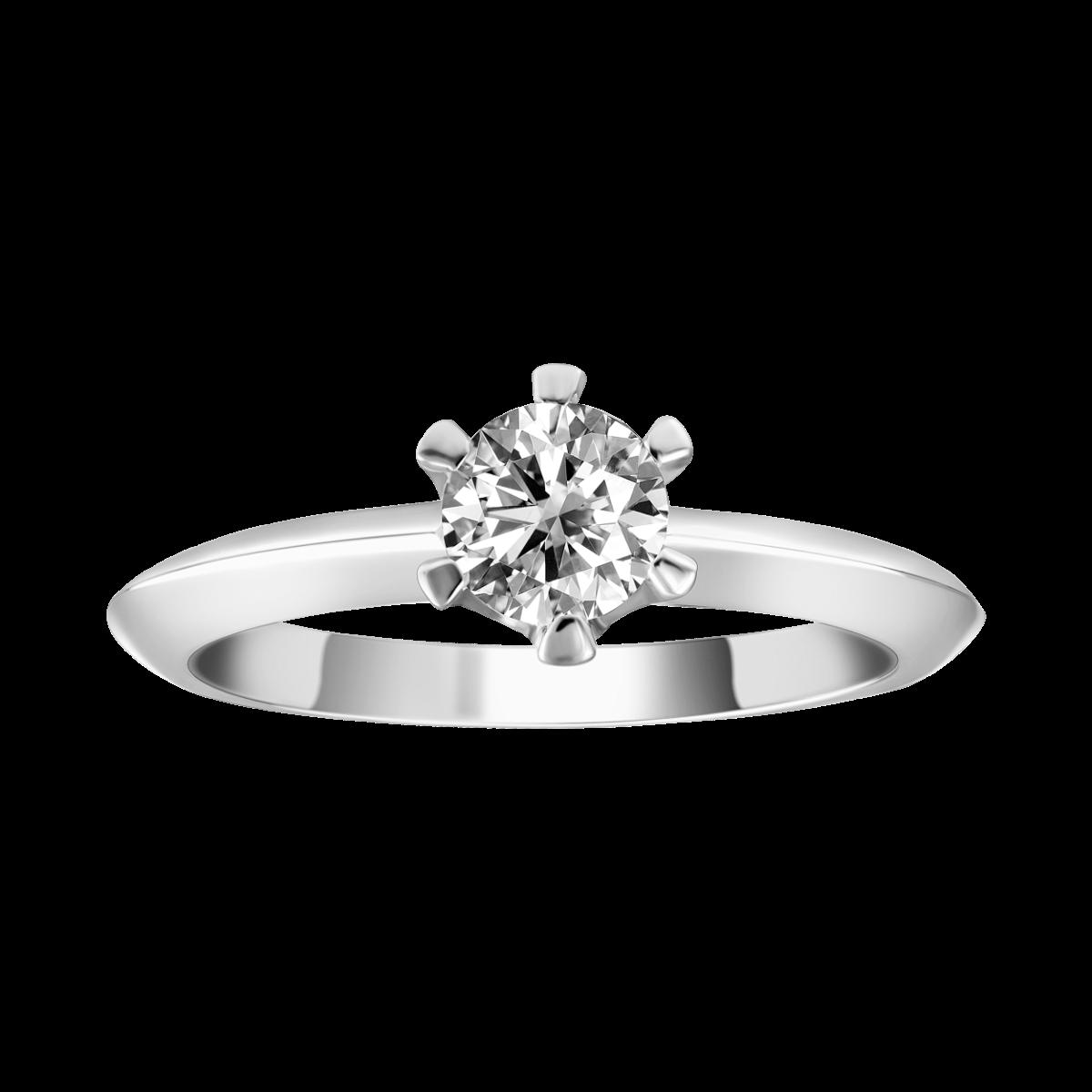 Paciência de diamante em ouro branco