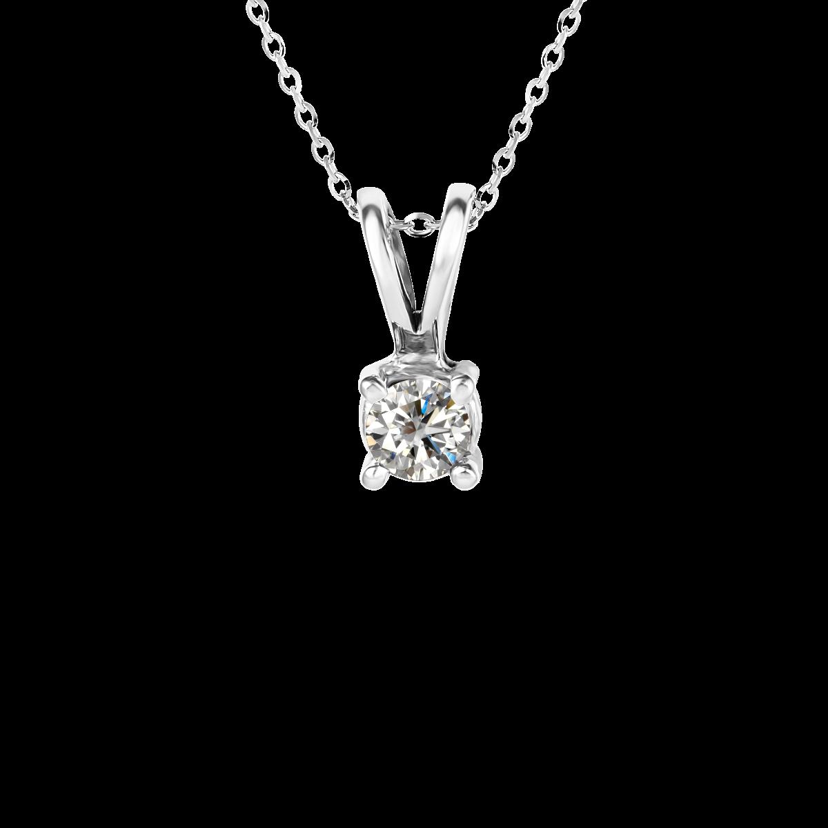 Colgante de diamantes oro blanco