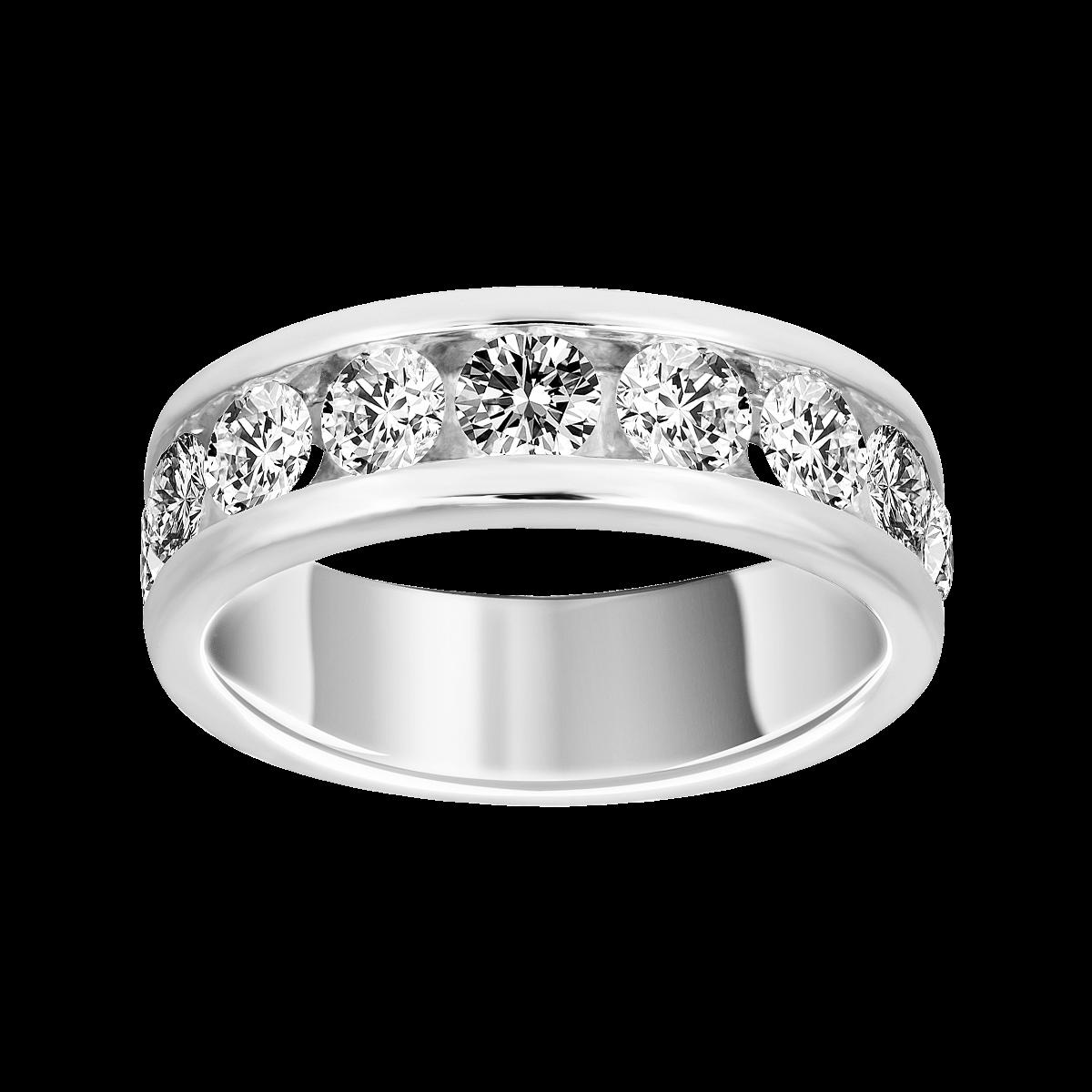 Anel de diamantes ouro branco