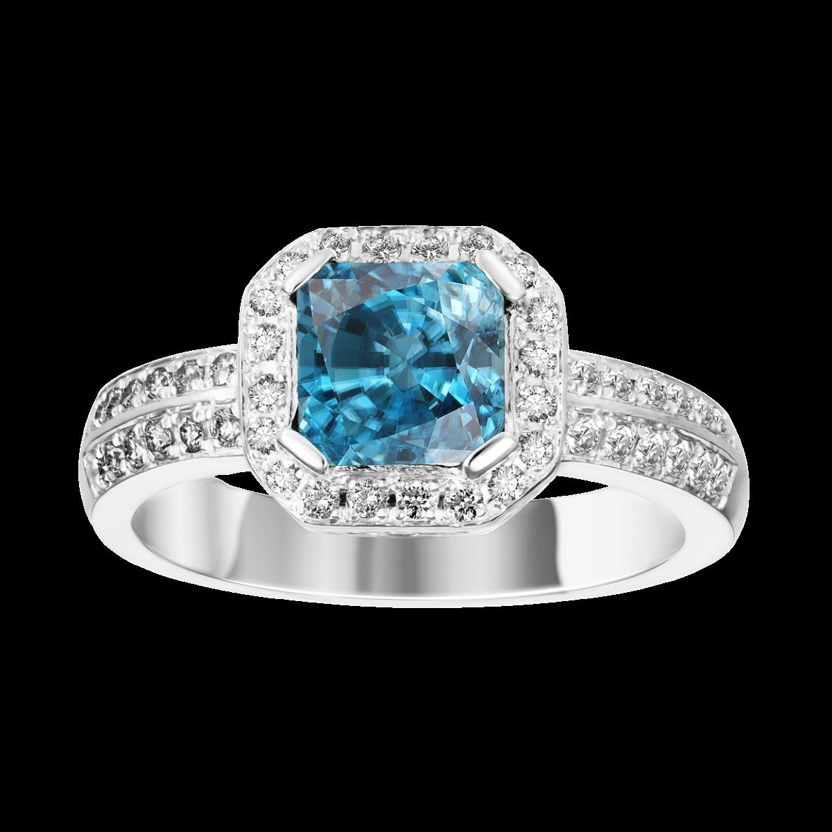 anel topázio de diamante