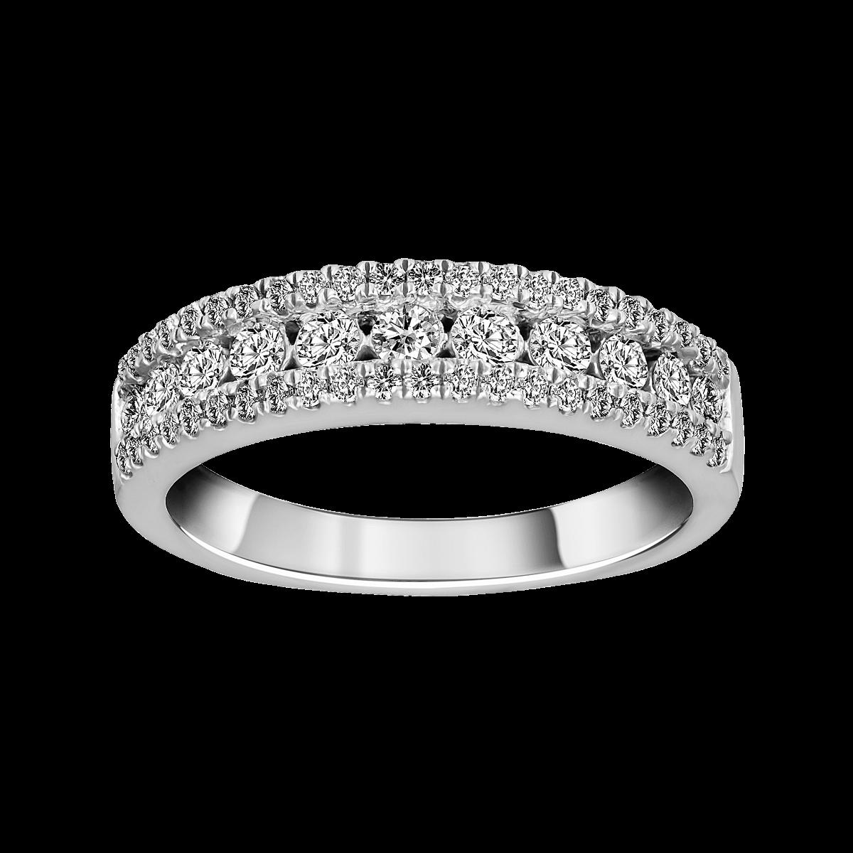 Aliança de diamantes em ouro branco