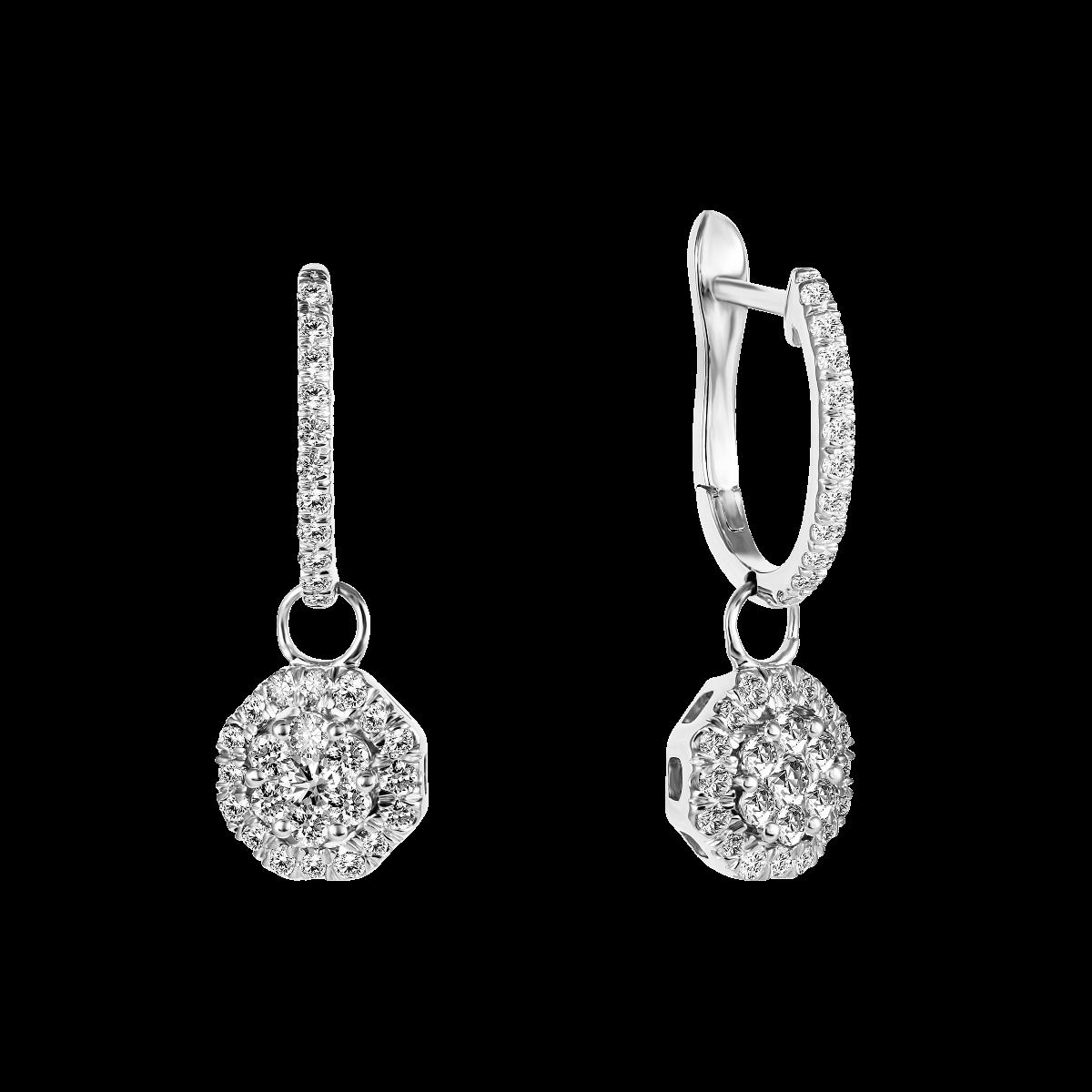 Pendientes de diamantes oro blanco