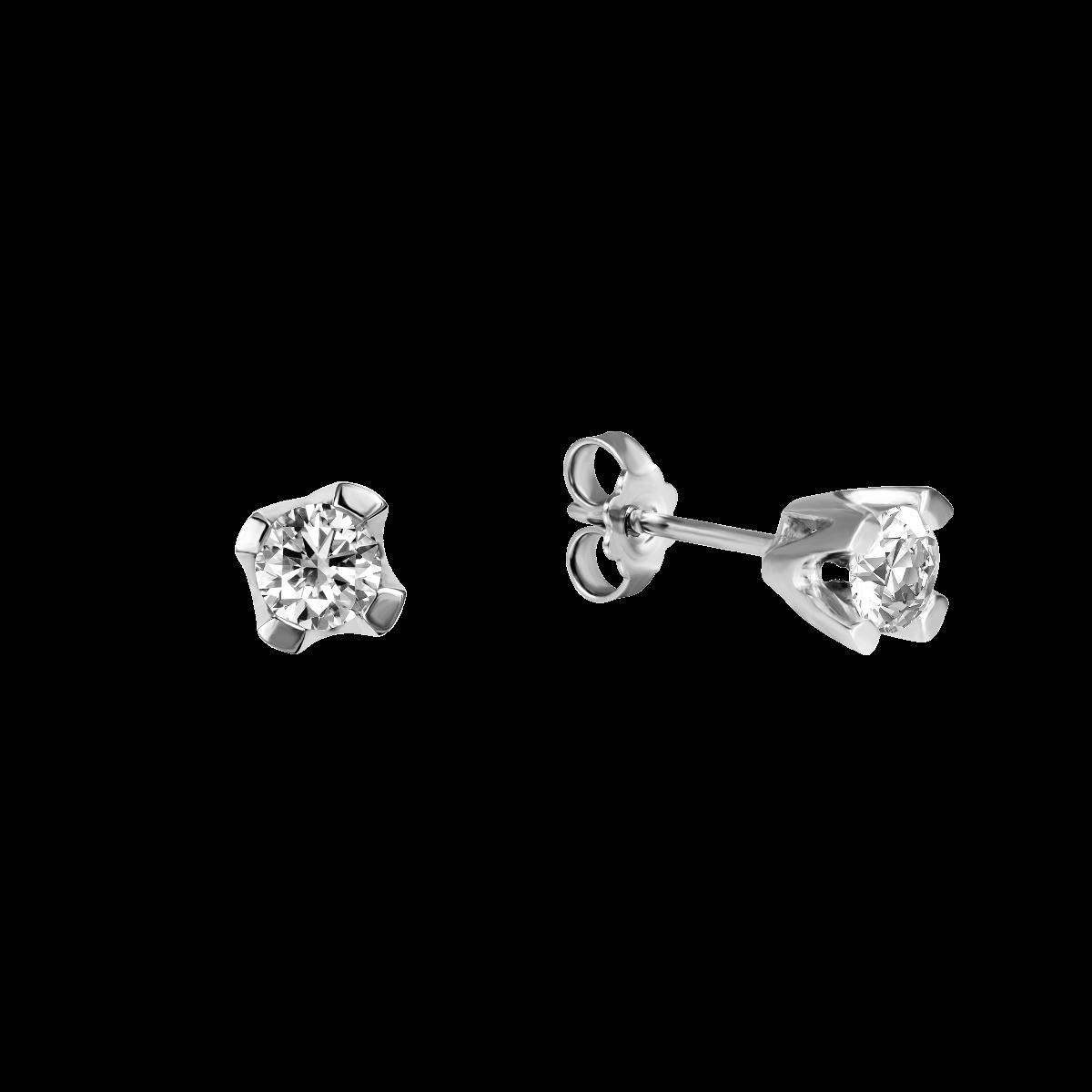 Brincos de diamantes ouro branco