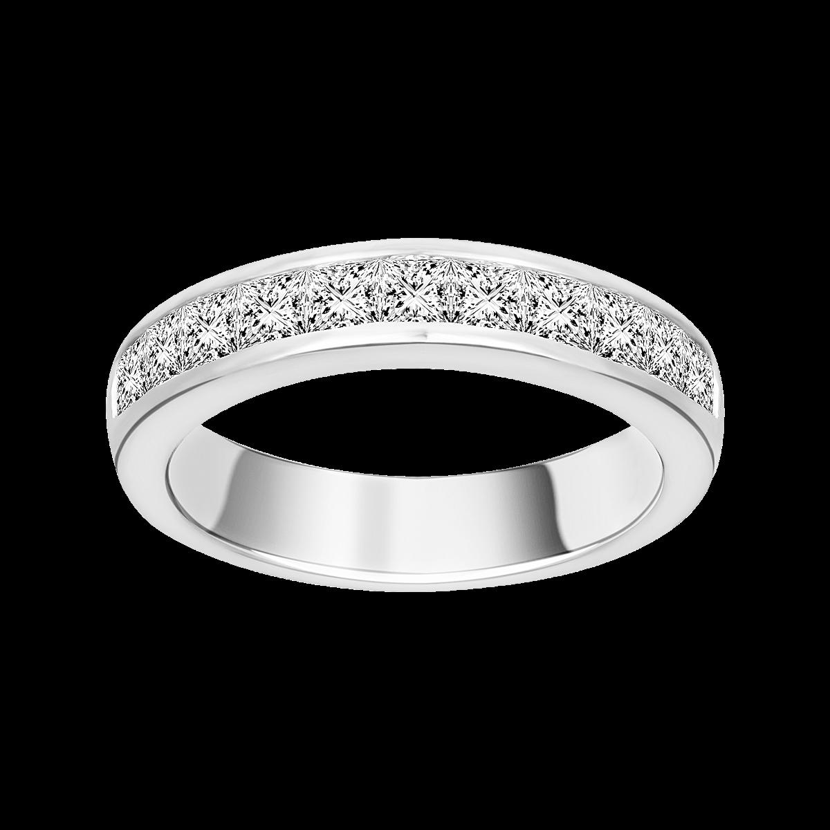 Alianza de diamantes en oro blanco