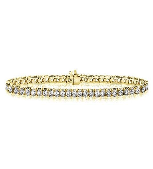 Pulsera de diamantes oro amarillo