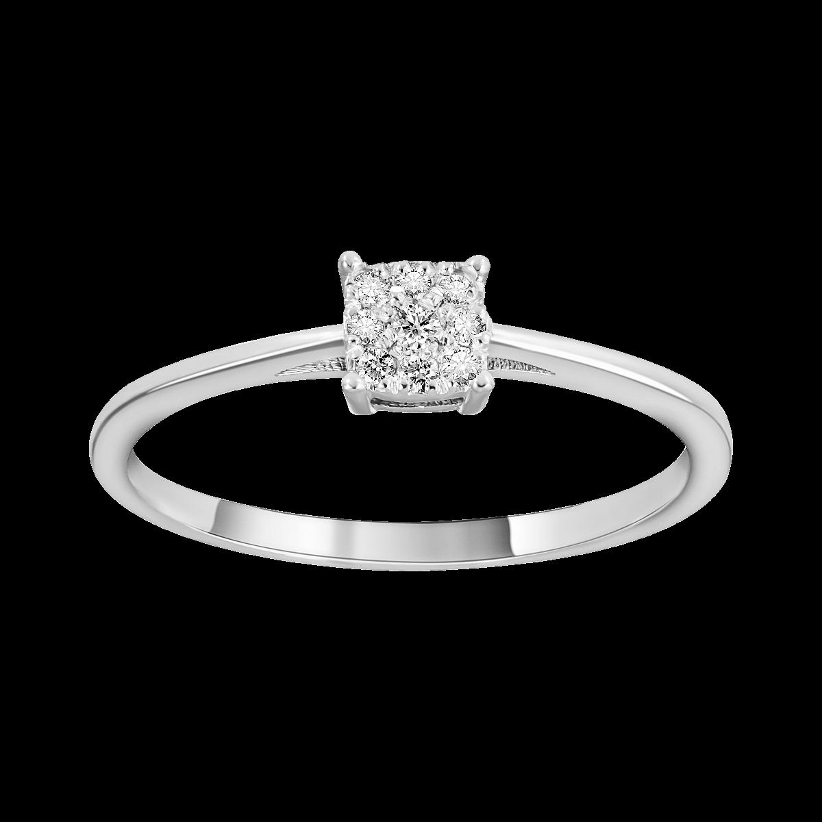 Solitario de diamantes oro blanco