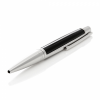 Bolígrafo de diseño negro y plata brillante