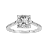 Solitário de diamantes en ouro branco